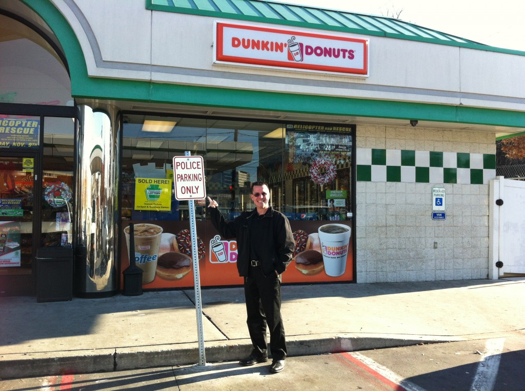 Dunkin Donuts - Sign Police Parking Only