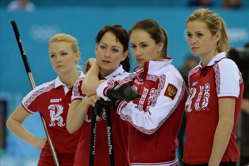 Russian Women's Curling Team Sochi 2014