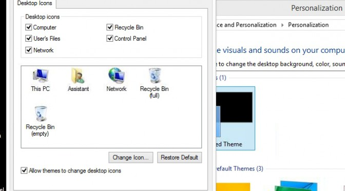 Add Common Icons to Windows 8 Desktop