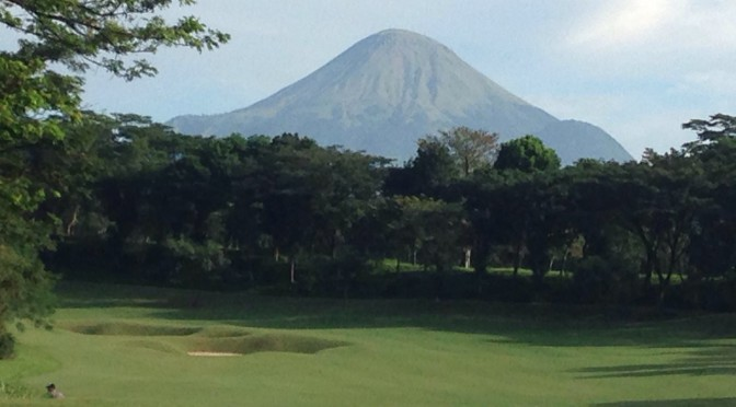 Tawan Dayu Golf under Volcano near Pandaan Indonesia