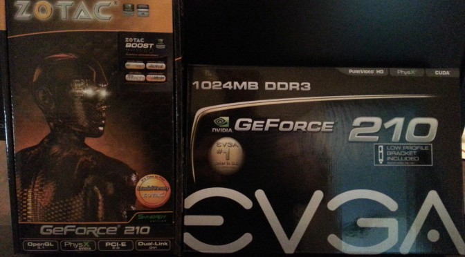 Install Two Nvidia GeForce 210 in Dell SC440 to Setup 3 or 4 Displays
